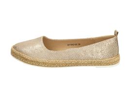 Złote espadryle, buty damskie WISHOT DP942
