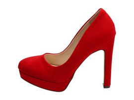 Czerwone czółenka damskie VICES 9143-19 SŁUPEK
