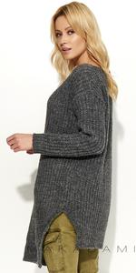Sweter MAKADAMIA S49 - Grafitowy