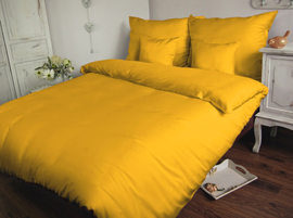 Pościel satynowa Sophia żółta 160x200 – jednobarwna