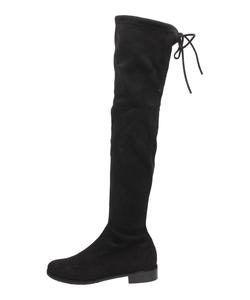 Czarne zamszowe kozaki za kolano VICES T060-1