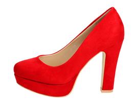 Czerwone czółenka damskie VICES 6085-19 SŁUPEK