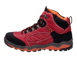 Czerwone śniegowce damskie, trapery WISHOT 045
