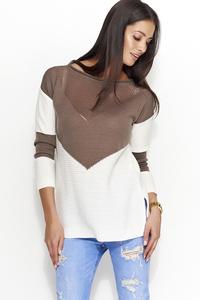 Sweter z ażurkowym przodem ns29