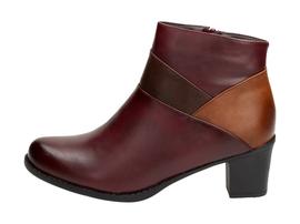 Bordowe botki, buty damskie WISHOT BT943