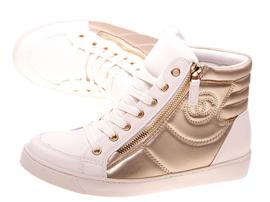 Wiosenne sneakersy trampki damskie 613WT/G