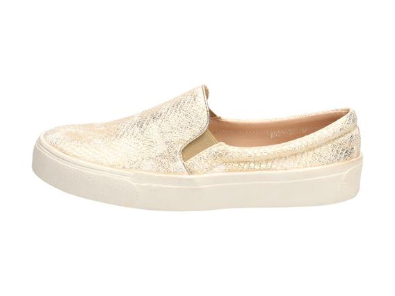 SLIP ON złote buty damskie VICES 921-37