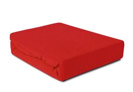 Prześcieradło Frotte z gumką czerwone 140x200