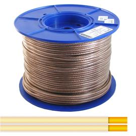 Kabel głośnikowy przeźroczysty HiFi 2 żyły miedziane (grubość żył 2 x 2.5 mm2) miedź beztlenowa OFC