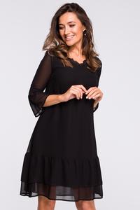 Sukienka szyfonowa z koronką s160
