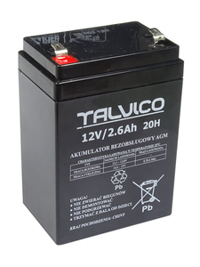 Akumulator żelowy bezobsługowy 12V 2,8Ah Talvico