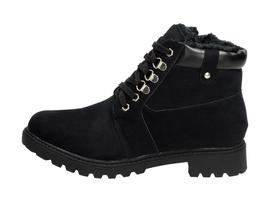 Czarne botki, trapery damskie WISHOT 31-987