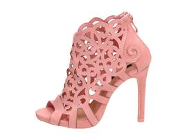 Różowe sandały damskie, szpilki VICES 1398-20