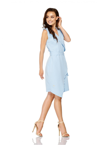 Sukienka kopertowa z paskiem l308