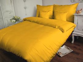 Satynowa pościel Sophia żółta 180x200 – jednokolorowa