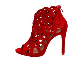 Czerwone sandały damskie szpilki VICES 1398-19