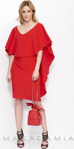 Sukienka MAKADAMIA M404 - Czerwony
