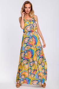 Sukienka maxi z wzorem moe441