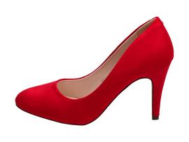 Czerwone szpilki, czółenka damskie VICES 9142