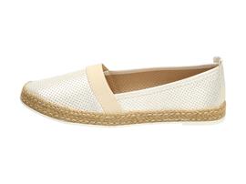 Złote espadryle, buty damskie WISHOT DP937