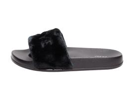 Czarne klapki damskie VICES S26-1 LOVE
