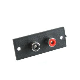 Gniazdo RCA (cinch) podwójne do obudowy