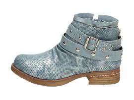 Niebieskie botki, buty damskie WISHOT BT951