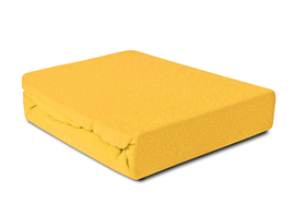 Prześcieradło Frotte z gumką żółte 140x200