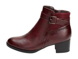 Bordowe botki, buty damskie WISHOT BT934