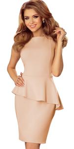 Sukienka NUMOCO 178-5 Brzoskwiniowy