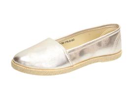 Złote espadryle, buty damskie WISHOT 32-175
