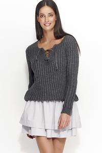 Sweter z wiązaniem ns28