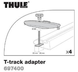 Thule Adap.(łeb śruby 20x20mm) do belek z rowkiem - do mocowń Thule Power:Grip/Fast/Click