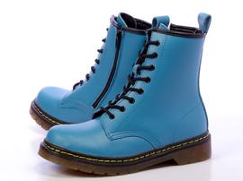 -30%Zimowe niebieskie glany WISHOT na suwak265