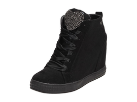 Czarne buty damskie, sneakersy VICES 7194-1