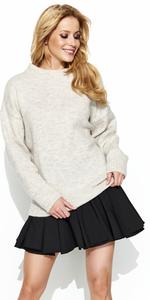 Sweter MAKADAMIA S63 - Beżowy melanż