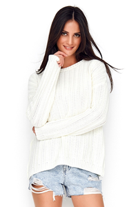 Klasyczny sweter z splotem ns62
