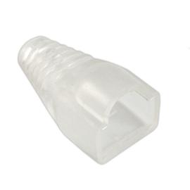 Osłona wtyku modularnego 8p8c biała/transparentna
