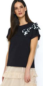 Bluzka NUMINOU NU162 - Czarna z kokardą