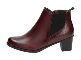 Bordowe botki, buty damskie WISHOT BT940