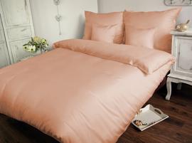 Pościel satynowa Sophia różowa 160x200 – jednobarwna